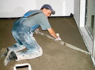 Wylewka w domu, w garażu, w piwnicy... podkład cementowy