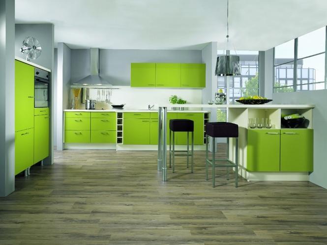 Fronty kuchenne - kuchnia zielona
