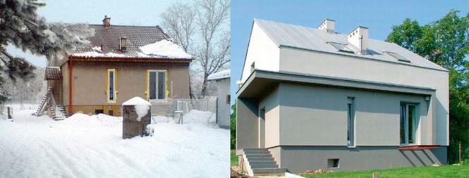 Nadbudowa domu - przed i po
