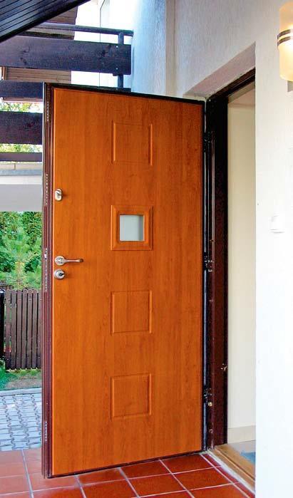 Drzwi antywłamaniowe z przeszkleniem