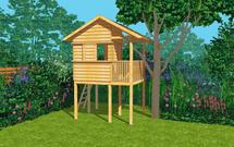 Projekt domku dla dzieci. Zbudujesz go sam w swoim ogrodzie