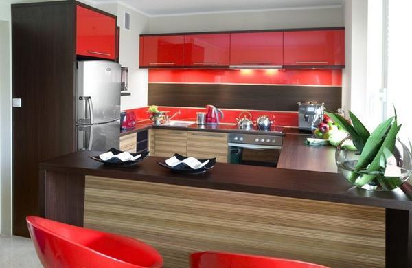 Galerie zdjęć  Nowoczesna kuchnia w modnych kolorach   -> Kolory Kuchni Sciany